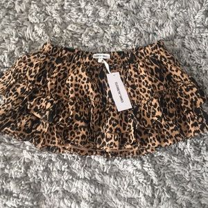Elizabeth and James Leopard mini skirt